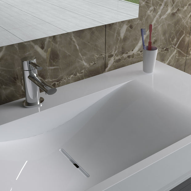 DW-102 Rectangular Wall Mounted Sink Shown