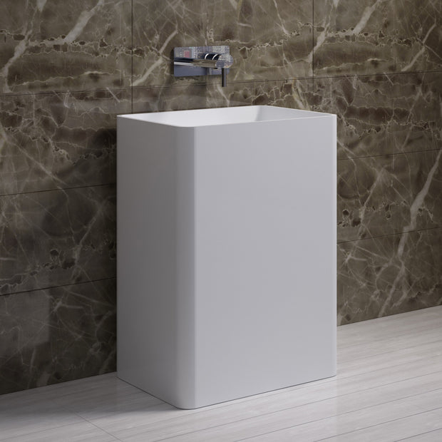 DW-105 Rectangular Freestanding Sink Shown Installed