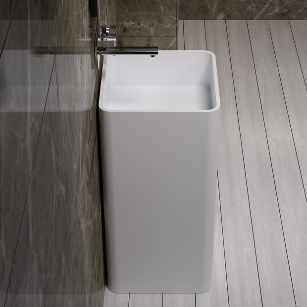 DW-107 Square Freestanding Sink Shown