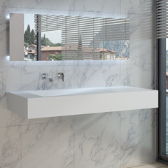 DW-111 Rectangular Wall Mounted Sink Shown