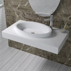 DW-115 Rectangular Wall Mounted Sink Shown Installed