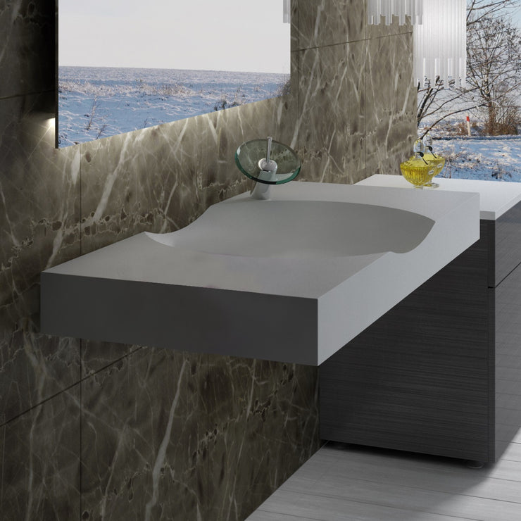DW-117 Rectangular Wall Mounted Sink Shown