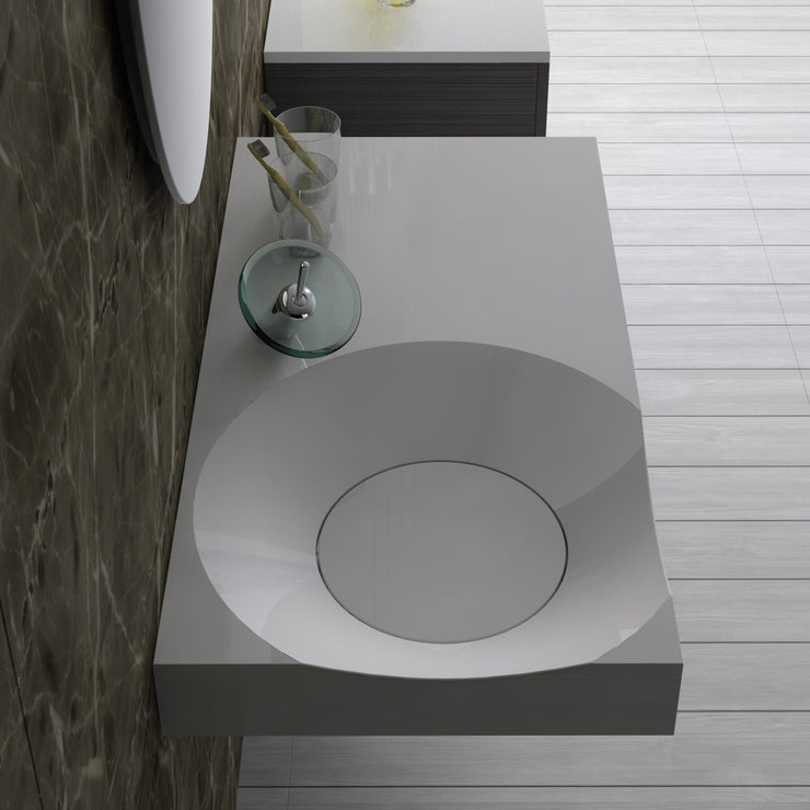 DW-118 Rectangular Wall Mounted Sink Shown