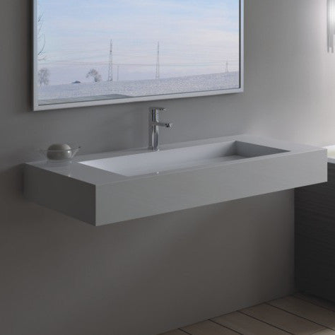 DW-120 Rectangular Wall Mounted Sink Shown