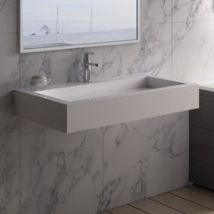 DW-121 Rectangular Wall Mounted Sink Shown Installed