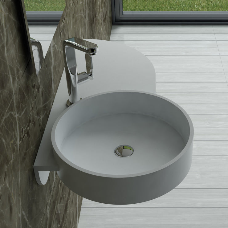 DW-123 Rectangular Wall Mounted Sink Shown