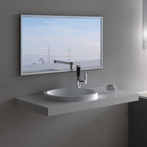 DW-126 Rectangular Wall Mounted Sink Shown Installed