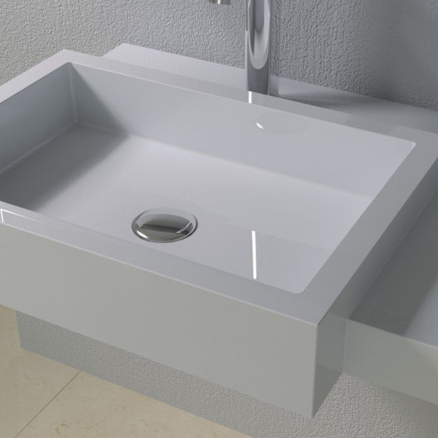 DW-127 Rectangular Wall Mounted Sink Shown