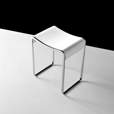S-106 Bathroom Bench Stool Shown with steel frame