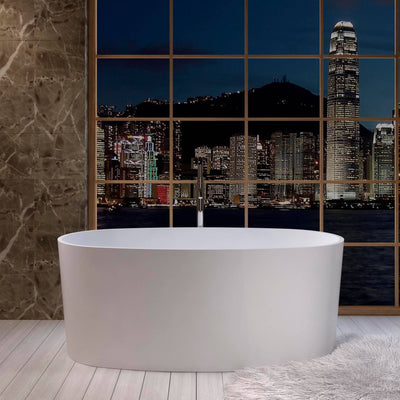 SW-108 Oval Freestanding Bathtub Shown