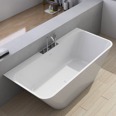 SW-145 Rectangular Freestanding Bathtub Shown Installed