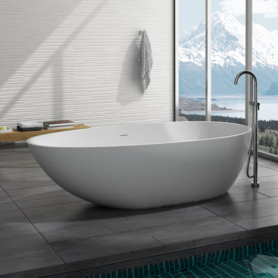SW-149 Oval Freestanding Bathtub Shown Installed