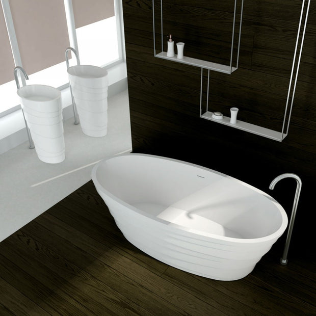 SW-150 Layered Freestanding Bathtub Shown