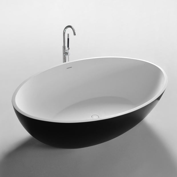 SW-151B Curved Freestanding Bathtub in Black Finish Shown