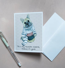 Load image into Gallery viewer, Frenchie Valentine's Card