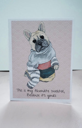 Frenchie Valentine's Card