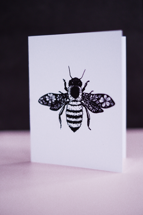 Honey Bee Blank  Card
