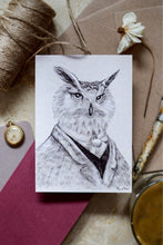 Load image into Gallery viewer, Victorian Owl Postcard