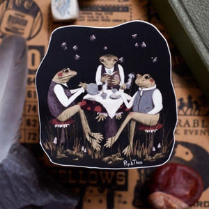 Midnight Tea Party Vinyl Sticker
