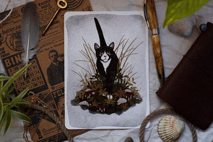 Forest Cat Print