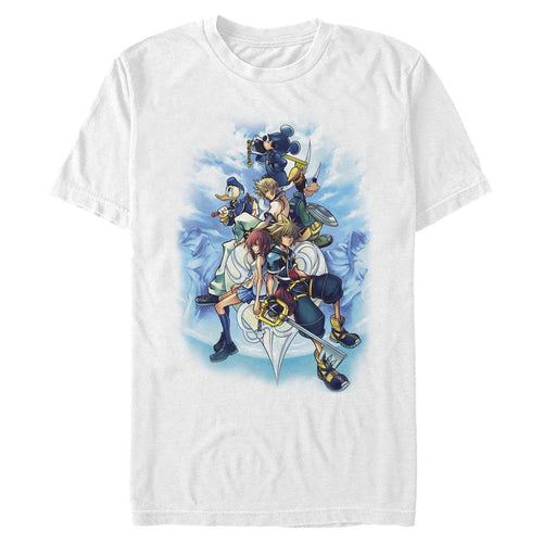 KH2 Box Art - Kingdom Hearts White Tee-IGN Store