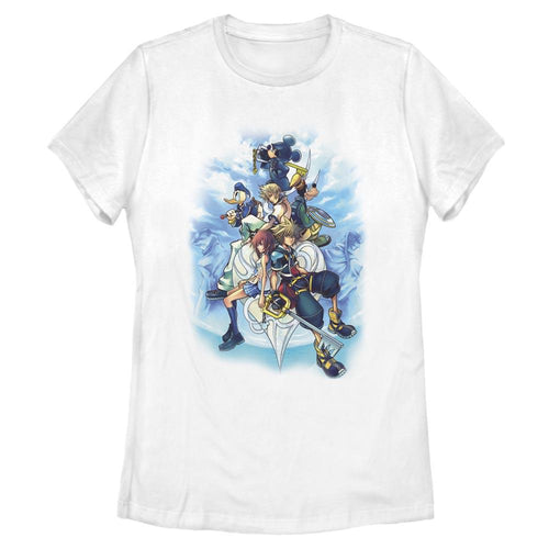 KH2 Box Art - Kingdom Hearts White Women's Tee-IGN Store