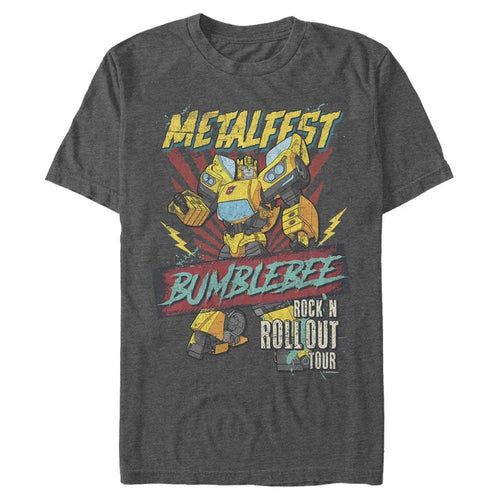Metalfest Bumblebee - Transformers Charcoal Heather Tee-IGN Store