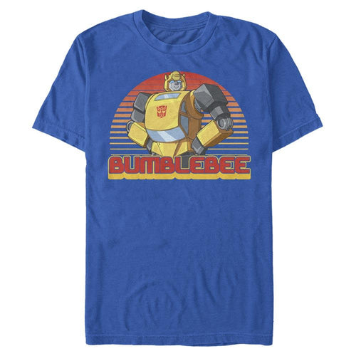 Retro Bumblebee - Transformers Royal Blue Tee-IGN Store