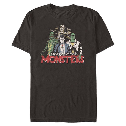 Monster Squad Goals - Universal Movie Monsters Black T-Shirt