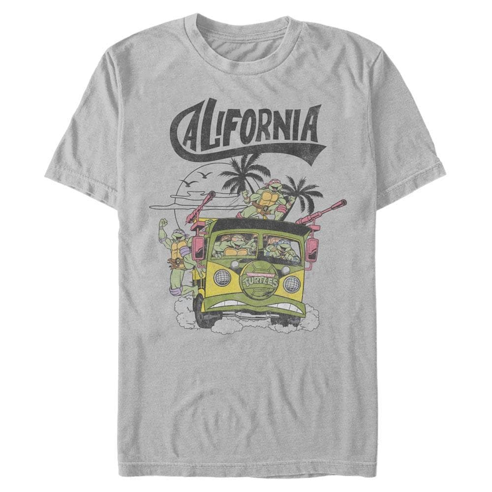 Back to Cali Selective Color - Teenage Mutant Ninja Turtles Silver T-Shirt
