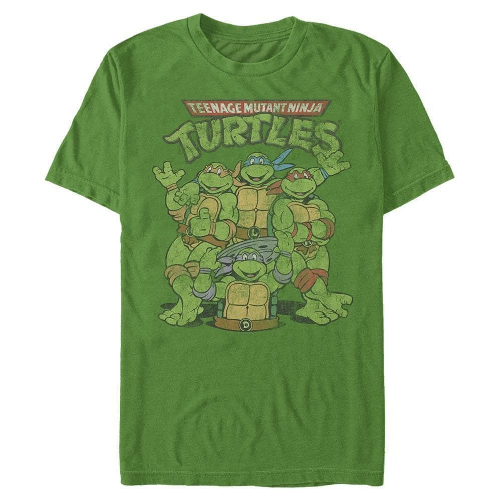 Classic Turtles Retro Fade - TMNT Heather Green T-Shirt