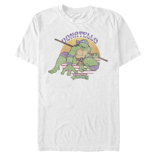 Donatello Retro - Teenage Mutant Ninja Turtles White T-Shirt