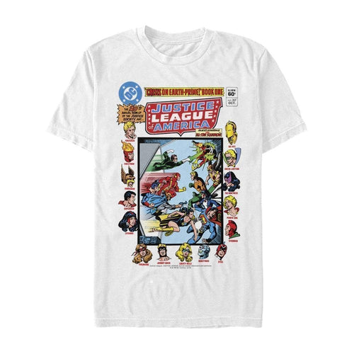 Justice League 20th Annual Throwback - DC Comics White T-Shirt