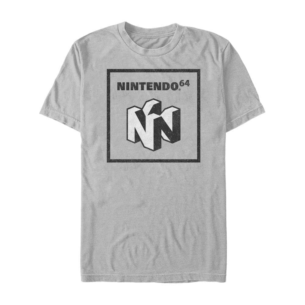 Nintendo 64 Element Two-Tone - Nintendo T-Shirt, Heather Red