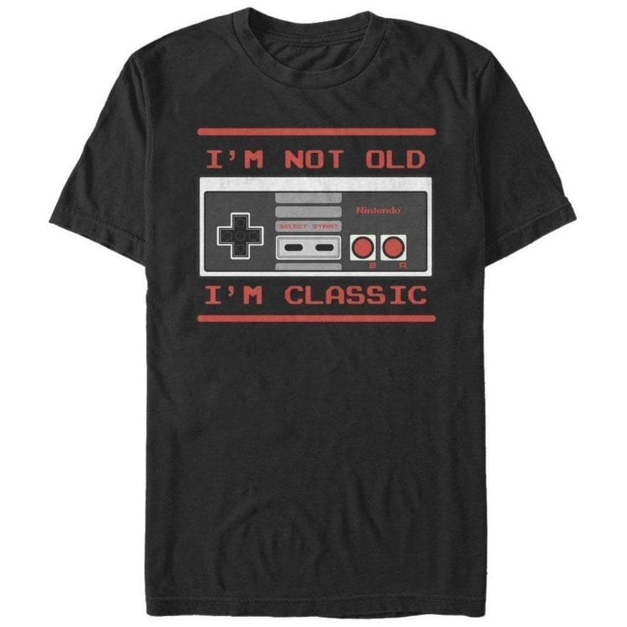 Not Old, I'm Classic - Nintendo T-Shirt, Black