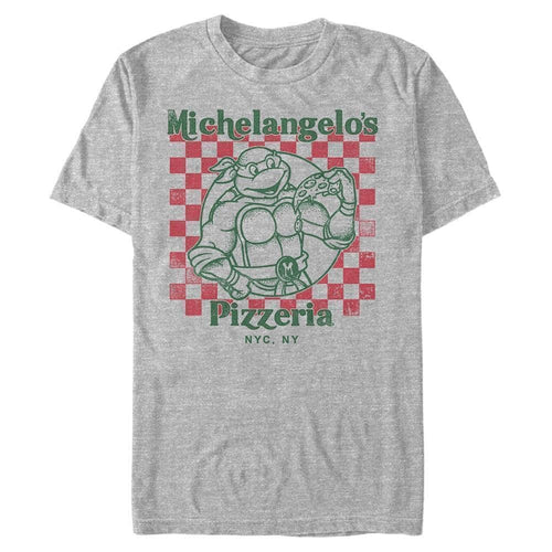 Pizza Box Mikey - Teenage Mutant Ninja Turtles Heather Grey T-Shirt