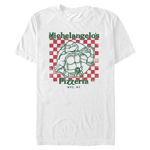 Pizza Box Mikey - Teenage Mutant Ninja Turtles White T-Shirt
