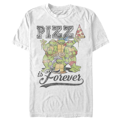 Pizza Is Forever Faded - Teenage Mutant Ninja Turtles White T-Shirt