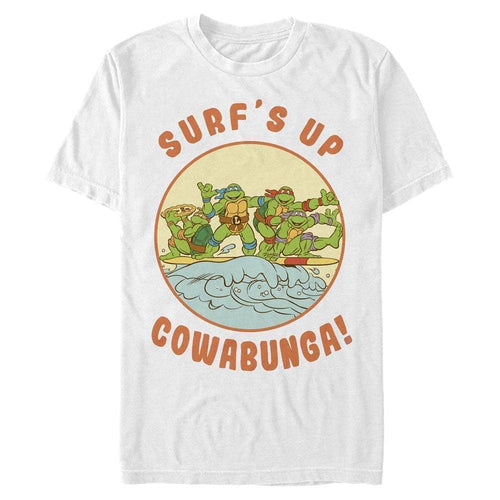Surf's Up, Cowabunga! - Teenage Mutant Ninja Turtles White T-Shirt