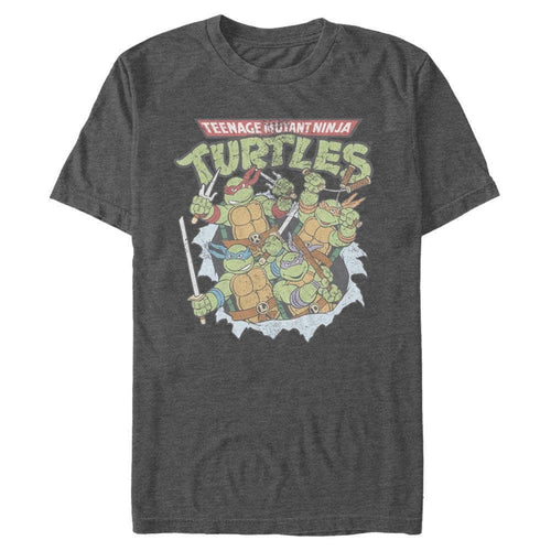 TMNT Burst - Teenage Mutant Ninja Turtles Charcoal Heather T-Shirt