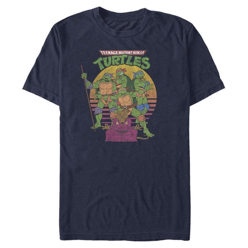 TMNT Sunset - Teenage Mutant Ninja Turtles Navy T-Shirt