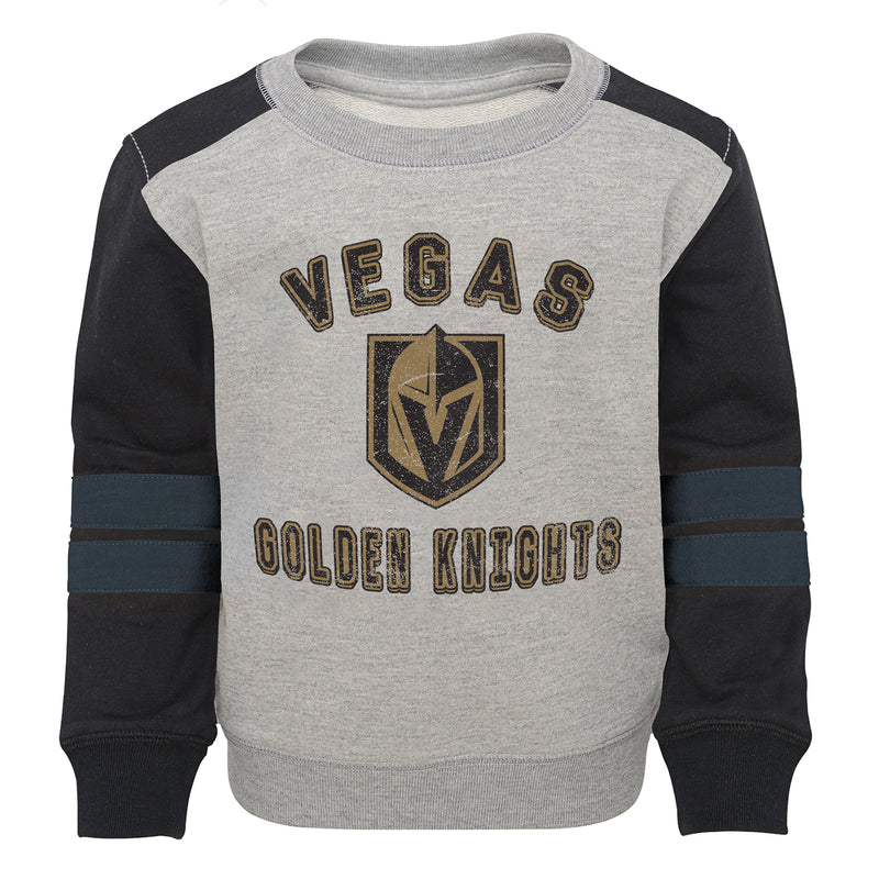 Vegas Golden Knights Outerstuff Toddler Retro French Terry Crew - Grey/Black