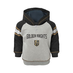 Vegas Golden Knights Outerstuff Toddler Classic Stripe Hoodie - Grey/Black