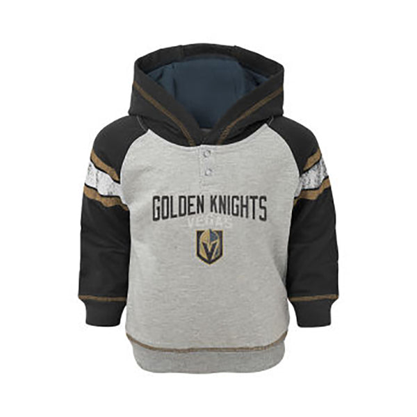 Vegas Golden Knights Outerstuff Toddler Classic Stripe Hoodie - Grey/Black - VegasTeamStore