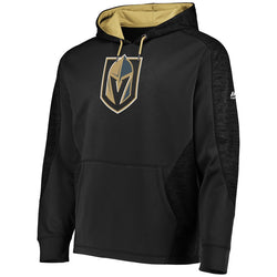 Vegas Golden Knights Majestic Mens Armor Therma Base Pullover Hoodie - Black - VegasTeamStore