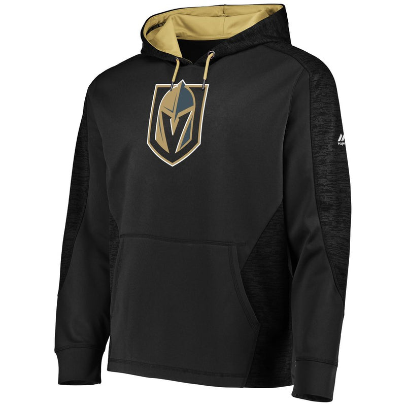 Vegas Golden Knights Majestic Mens Armor Therma Base Pullover Hoodie - Black