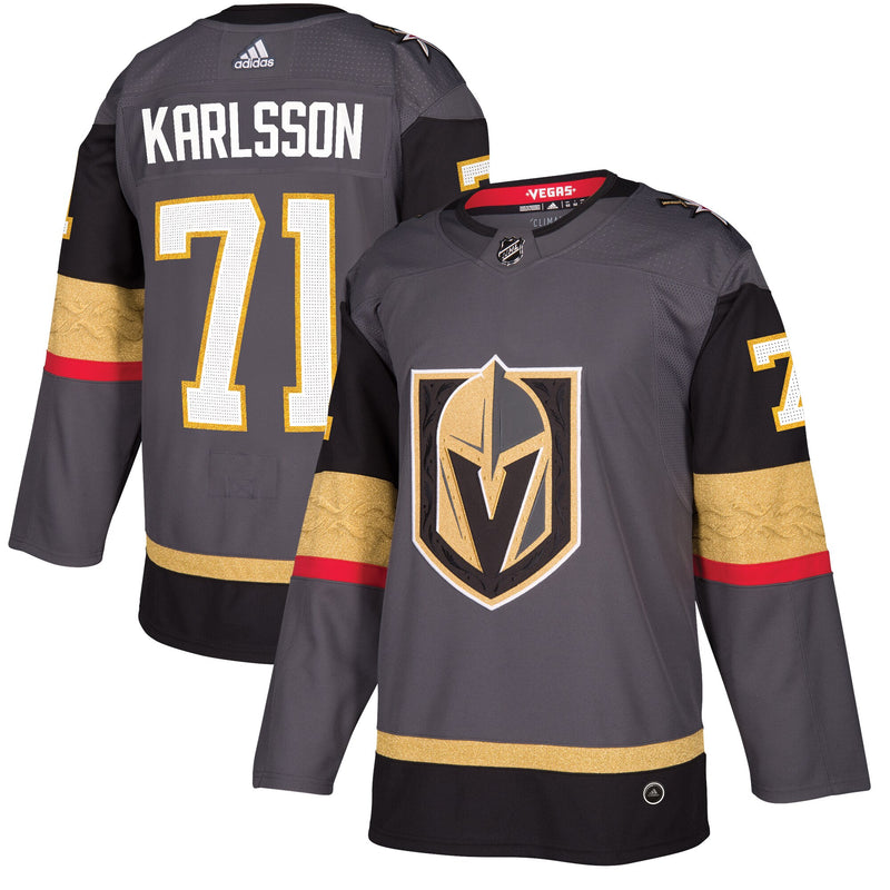 Men's Vegas Golden Knights William Karlsson adidas Gray Authentic Player Jersey