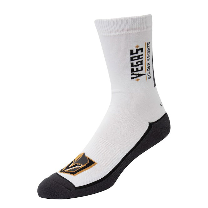 Vegas Golden Knights adidas Mens Wordmark Crew Sock - White