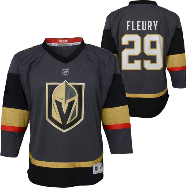 Vegas Golden Knights Outerstuff Youth Marc-Andre Fleury #29 Premier Home Jersey - Steel Gray