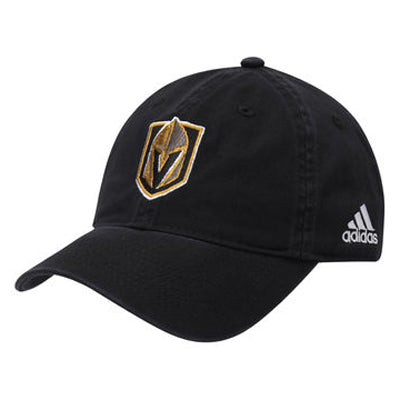 Vegas Golden Knights adidas Adjustable Slouch Cap - Black - VegasTeamStore